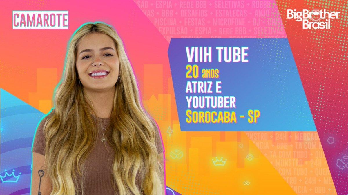 #BBB21 A atriz e youtuber @viihtube é mais uma integrante do #Camarote. O que achou?