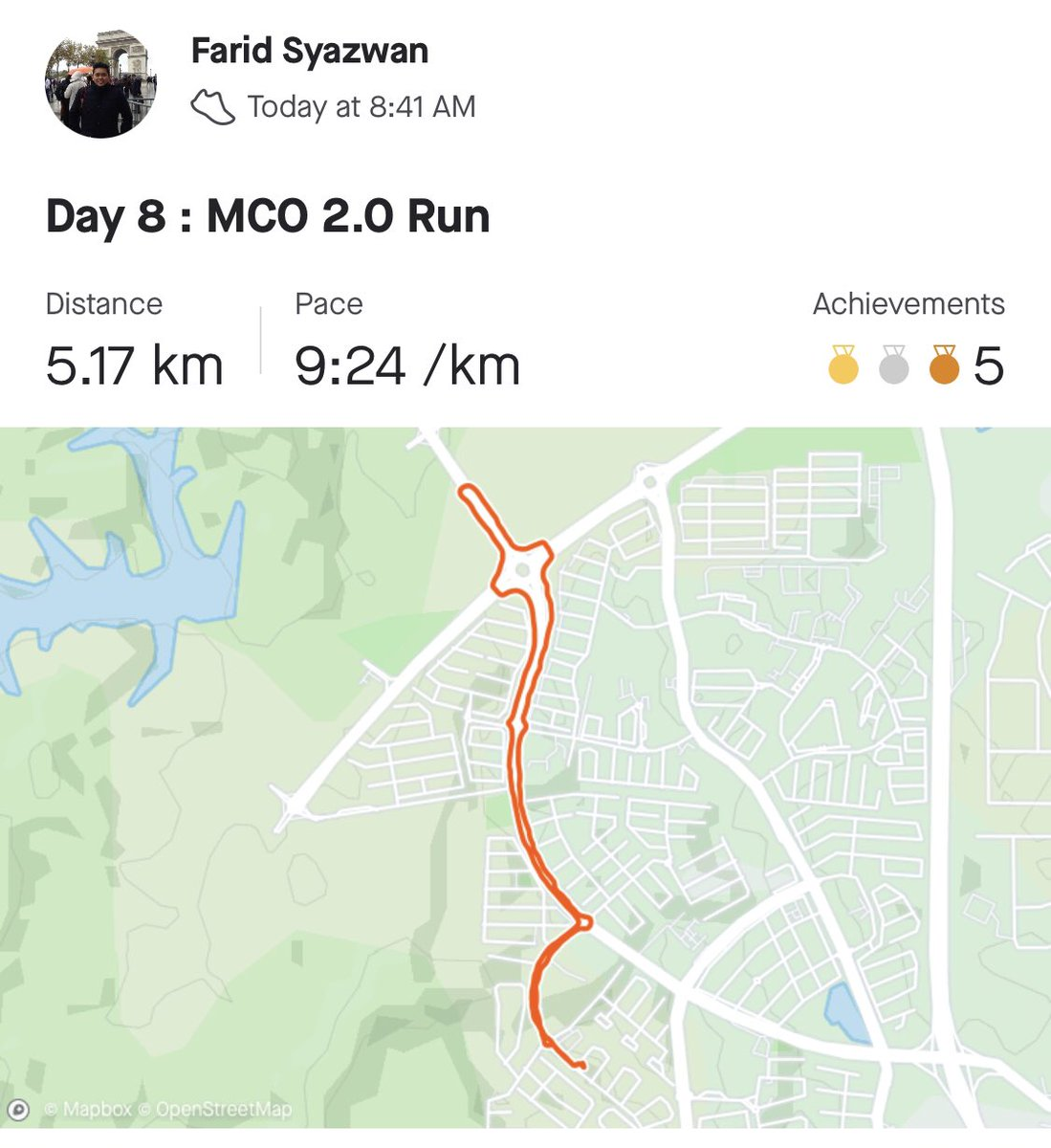Day 8 : MCO 2.0 Run 🏃🏻   Kalau la kat sini ada sungai, syok gila lepas Jog terjun sungai 🏊♂️ https://t.co/MjP6Cy9SoY