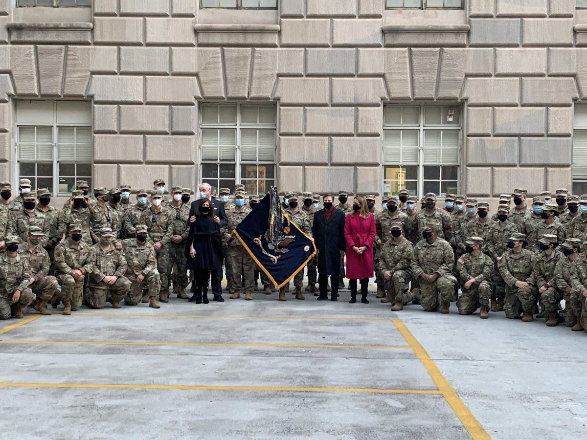 I joined @GovMurphy, @FirstLadyNJ, and @DonaldNorcross today to visit with the men and women of our @NJNationalGuard here in Washington for the Inauguration. Thank you for your service! 🇺🇸
