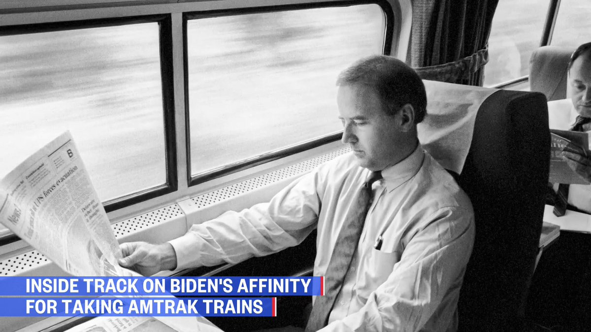 """After decades of taking @Amtrak from Wilmington to Washington, it became part of Joe Biden's political identity.  Retired Amtrak conductor: """"[Biden] was a morning commuter with everyone else.""""  @mikememoli has the story  Watch NOW:"""