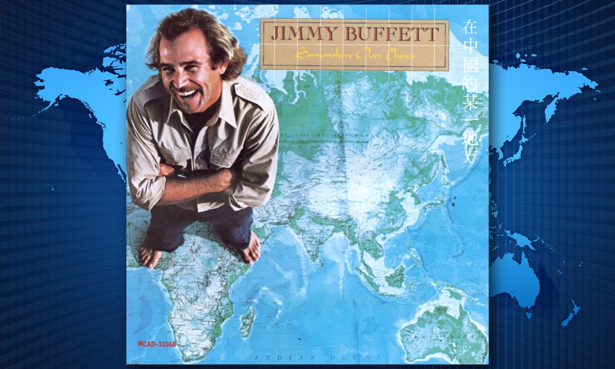 "It was #OnThisDay (Jan 19th) in 1982 that @JimmyBuffett released his 12 LP, ""Somewhere Over China."" Cheers & Fins Up!!! ≈≈@RadioMVille≈≈ ~~~/)~~\o/~~(\~~~ ≈≈≈@SiriusXM≈≈≈ ≈≈≈≈≈#Ch24≈≈≈≈"