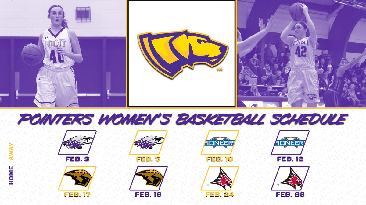 .@UWSPWBB tips off the year in Quandt on Feb. 3. Full slate at  with more info coming soon! #Pointers
