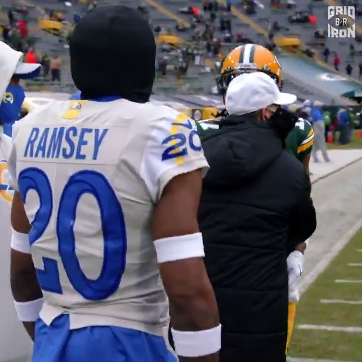 """Don't run. Make sure you go wherever I go"" 👀  We got footage of Jalen Ramsey's and Davante Adams' pregame chirping   New episode of 'All You Got' with @NFLFilms dropping Wednesday"