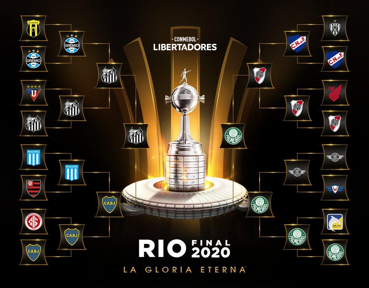 🏆 ¡Faltan solo 🔟 días para la gran Final de la CONMEBOL #Libertadores 2⃣0⃣2⃣0⃣!  🇧🇷 @Palmeiras 🆚 @SantosFC 🇧🇷  ⭐️ ¿Quién se quedará con la #GloriaEterna en Río de Janeiro?