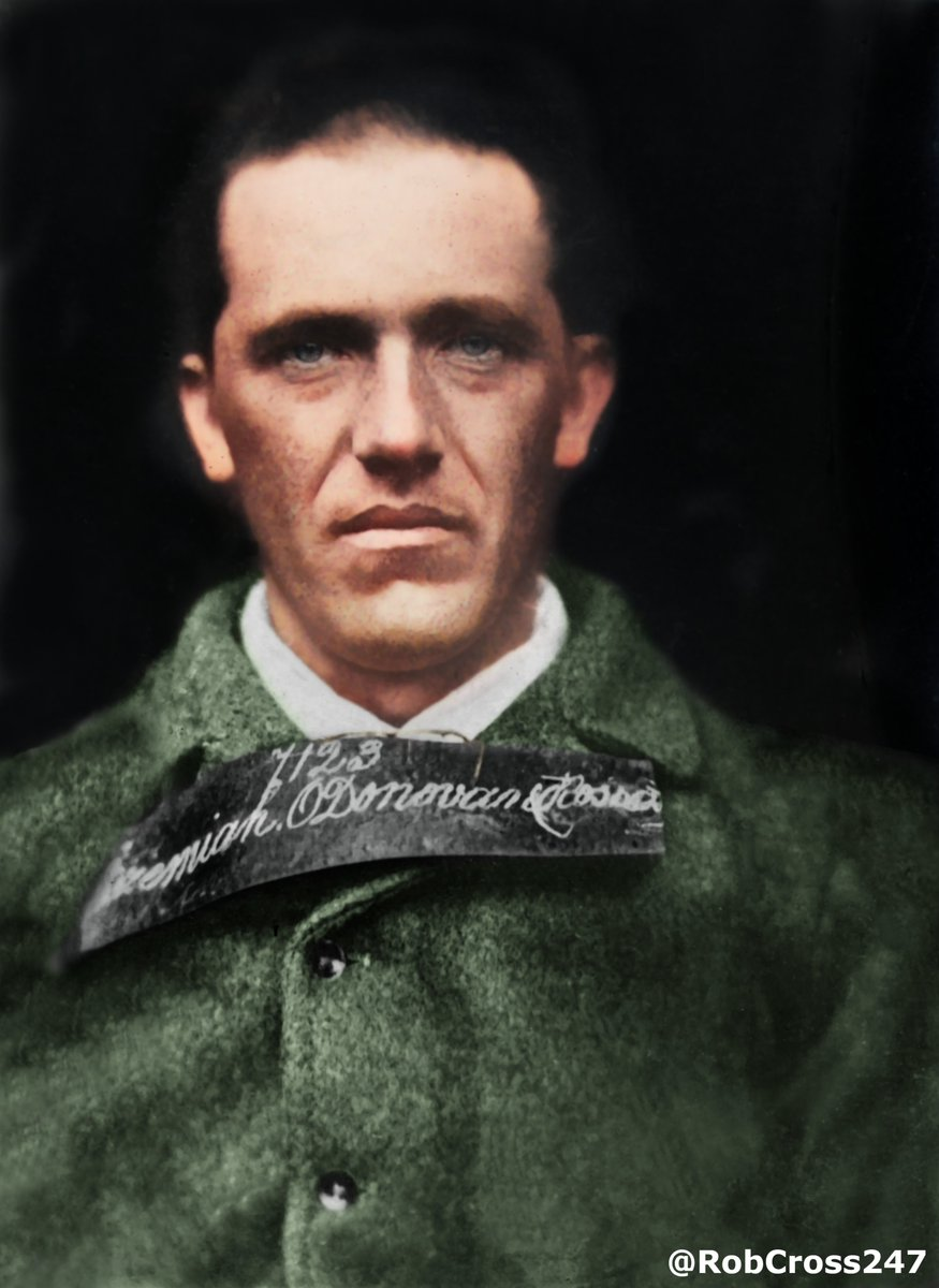 Bringing #Ireland's History to Life. 🇮🇪 My restored and colourised c1865 photo of Jeremiah O'Donovan Rossa in Mountjoy Prison. He founded the Phoenix National and Literary Society and dedicated his life to working towards the establishment of an independent Irish Republic. #Éire