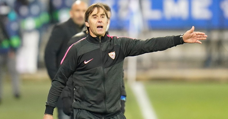 🗣️ Julen Lopetegui: 'We played really well against a tough opponent. We deserved the three points.' ⚽️  #WeareSevilla #NeverSurrender #AlavésSevillaFC