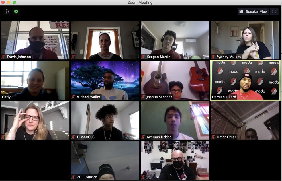 Had a good time connecting with some students and staff from Madison High School on zoom today. Wish we could could connect in person like we do in normal times, but we are making the best of it. Respect! https://t.co/nl4QyVxh31
