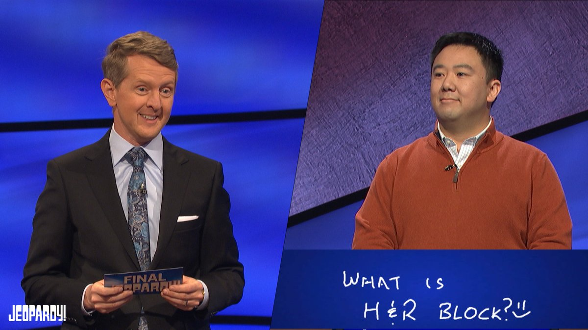 Ouch! Ken gets trolled by a contestant during today's Final Jeopardy!