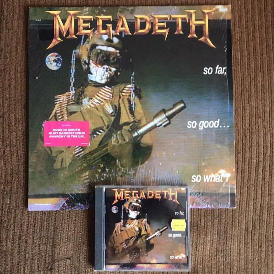 #OnThisDay January 19, 1988 @megadeth released their third studio album #SoFarSoGoodSoWhat which charted at #28 on the @billboardcharts and is certified platinum.  The album contains the singles #anarchyintheuk #maryjane & #liar