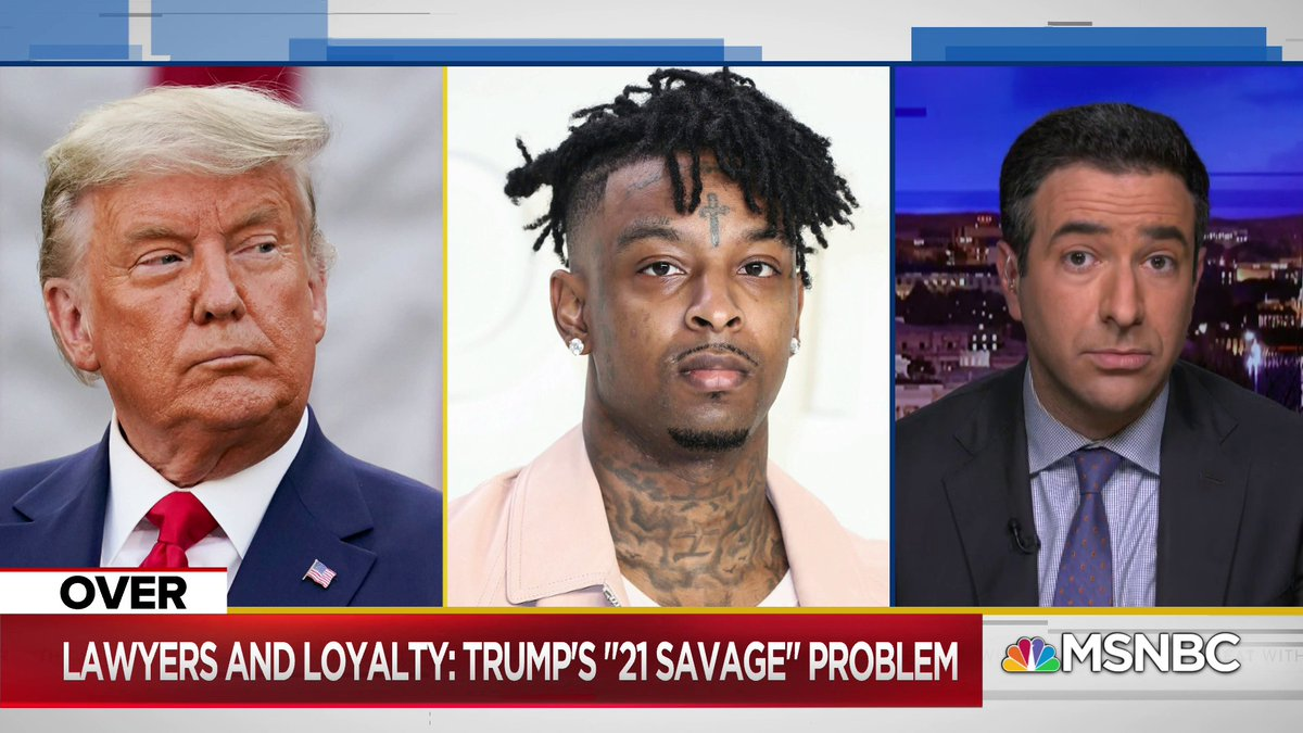 Replying to @TheBeatWithAri: How many problems does Trump have? @AriMelber thinks he has a lot    @21savage