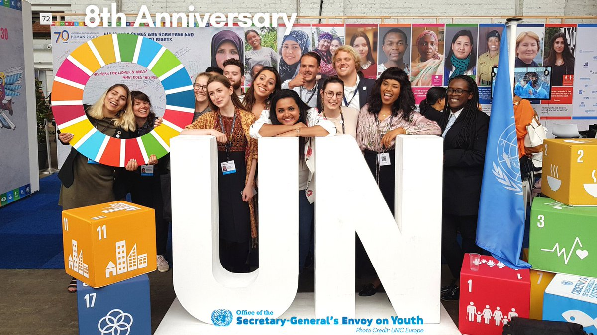 This week marks 8⃣ years since the @UNYouthEnvoy Office was first established 🎉    Although we've made important progress in advancing the @UN's work with & for youth, we still have a long way to go 💪   Check out some highlights from the past year 👉