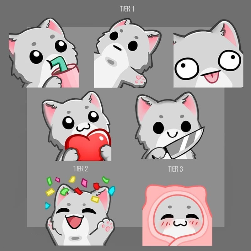 Some cute Animal emotes. Want to use them for your streams?  #GFX #GFXDesigner #emoteartist #emote #twitch #SmallStreamersConnect #SupportSmallStreams #SupportSmallStreamers #twitchStreamers #artistsontwitter #twitchemotes #twitchaffiliate #twitchstreamer #twitchstreaming