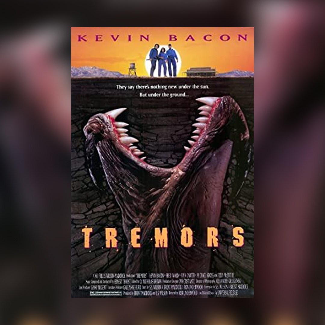 The cult-favorite man-eating worm monster movie came out today in 1990.  . . . #OnThisDay #Tremors #movies #KevinBacon