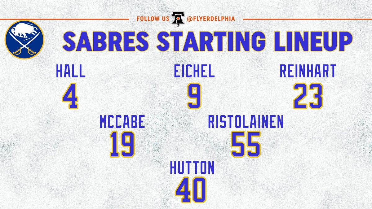 #Sabres starters. #FlyersTalk