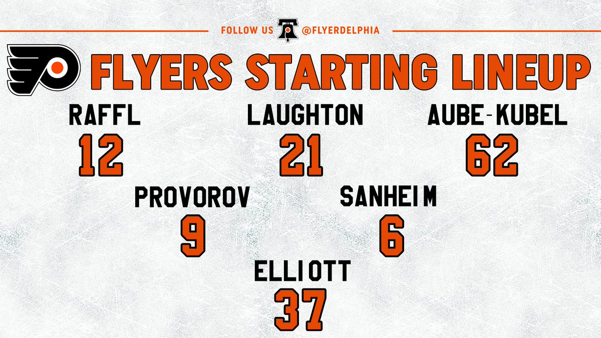 #Flyers starters. #FlyersTalk