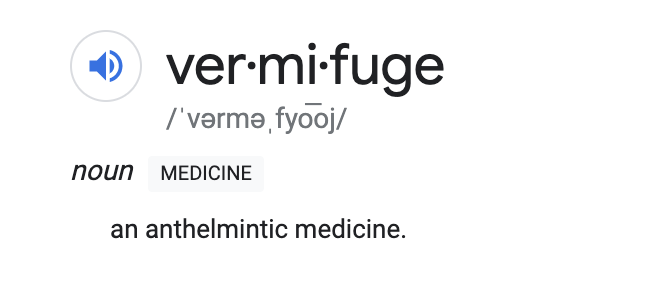 anthelmintic vermifuge meaning