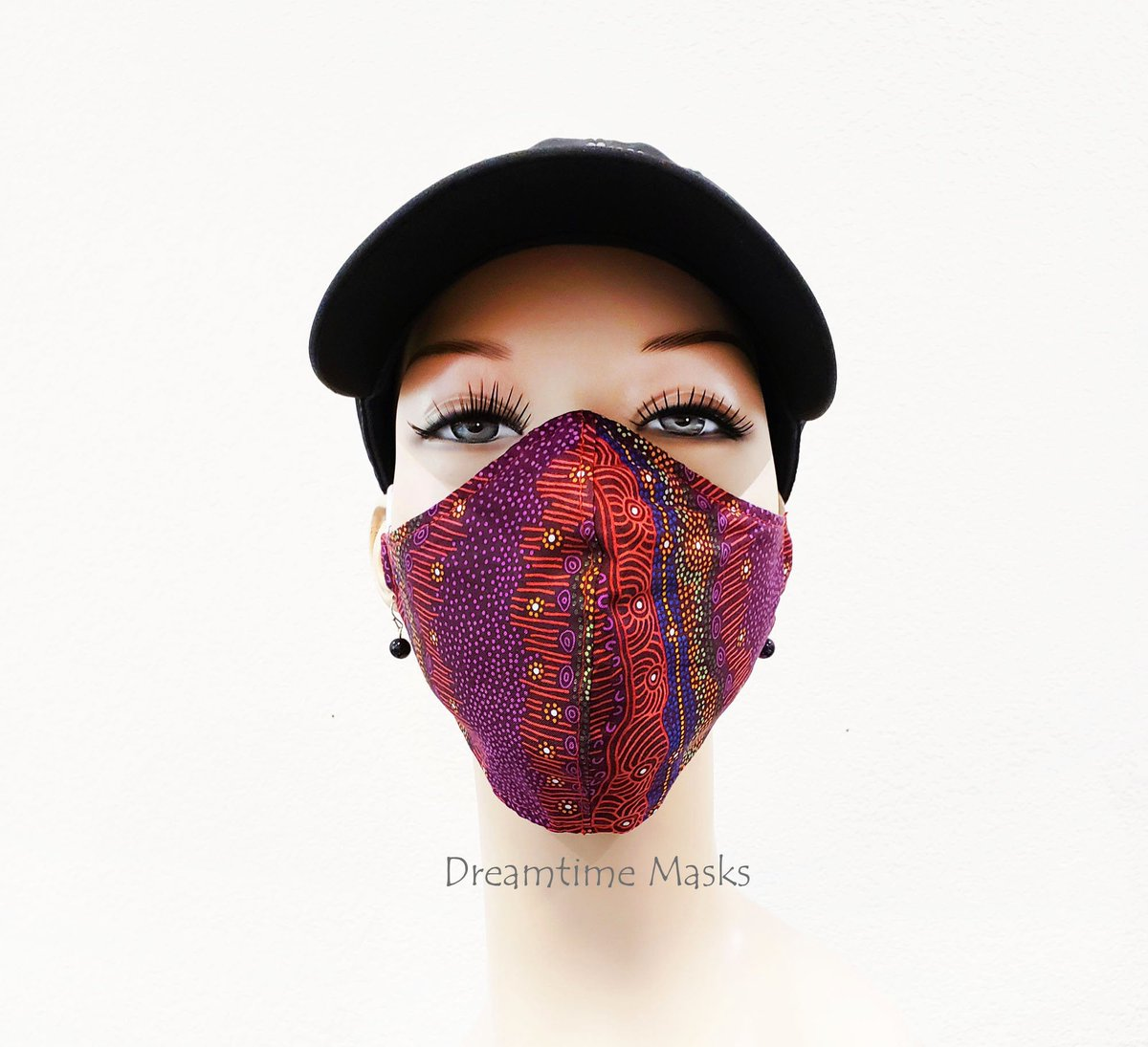 Red Face Mask Fitted Over the Head Adjustable Blue Face Covering Colorful Aboriginal Art Print Scarlet Crimson Ruby Red Print https://t.co/pIGBk3V4Qs #staysafe #facemask #Etsy #wearthedammmask #facemasks #stayhome https://t.co/yJd9TvpAQV