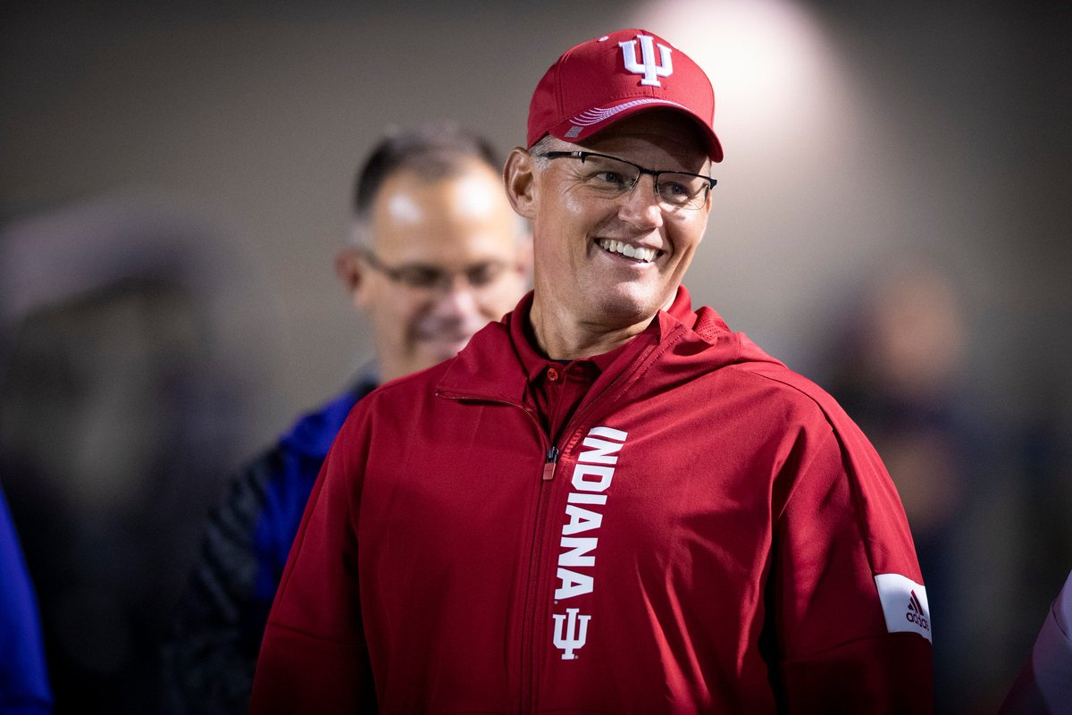 The winner of the Sidelines #B1G Fan-Based Award for COY goes to Tom Allen, from Indiana! Coach Allen brought the #Hoosiers into B1G East Title contention with a record of 6-2. He was named B1G COY as well as the AFCA COY 👀  @Kollege_Sports @CoachAllenIU