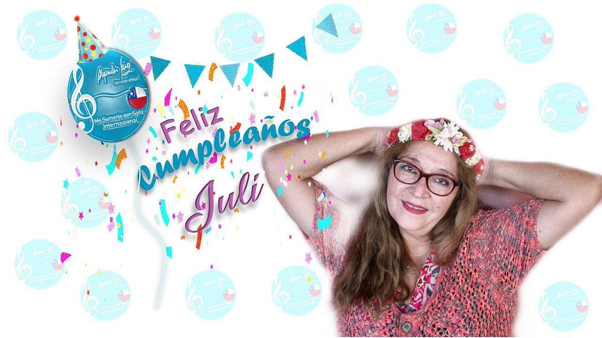 Feliz Cumpleaños @JuliaNuez19  Te deseamos un lindo cumpleaños, te queremos mucho!😊 @AlejandroSanz Nuestra amiga está cumpliendo años La saludas?Ven y te unes a nuestra fiesta Sumergida Esperamos con ansias tu saludo para nuestra amiga y compañera #FelizCumple @MeSumerjo_Chile