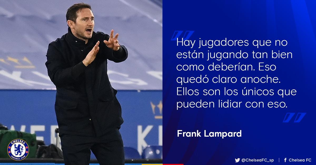 """🗣️ Lampard reconoció que su equipo fue bien superado en Leicester: """"No puedo quedarme atrapado en lo que será la reacción. Tomé este trabajo sabiendo que habrá momentos difíciles.""""   ¿Qué opinas? 🤔"""