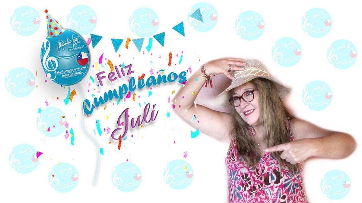 Feliz Cumpleaños @JuliaNuez19  Te deseamos un lindo cumpleaños, te queremos mucho! @AlejandroSanz Nuestra amiga está cumpliendo años La saludas?Ven y te unes a nuestra fiesta Sumergida Esperamos con ansias tu saludo para nuestra amiga y compañera #FelizCumple @MeSumerjo_Chile