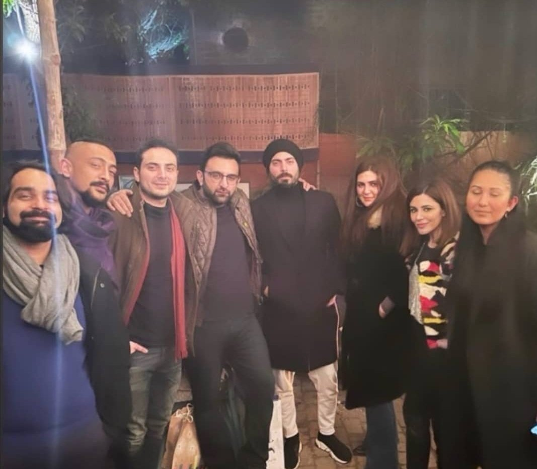 #FawadKhan spotted last night at his friend's birthday party.
