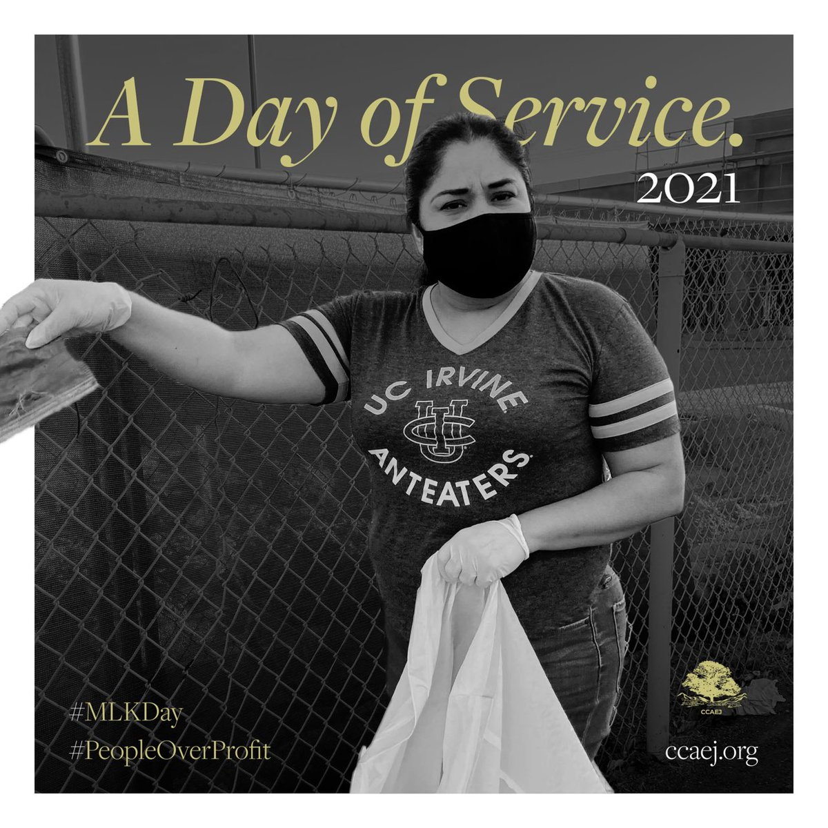 Day of Service - In honor of Rev. Dr. Martin Luther King, members of our staff participated in yesterday's Day of Service. A nationally recognized day that encourages all Americans to volunteer to improve their communities.💛 - #MLKday #PeopleOverProfit #ccaej  #volunteer