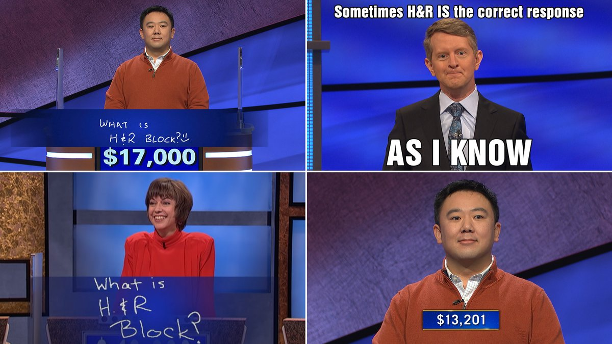 Elite trolling, Brian. Sorry, @KenJennings!