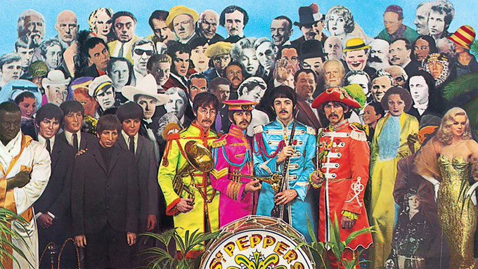 Edgar Allan Poe was born on this date January 19 in 1809, the same year as Lincoln. Poe died in 1849, 16 years before Lincoln was assassinated. Poe is top row center on the 1967 Beatles LP Sgt. Pepper. #OTD https://t.co/I8t4LmFrf4