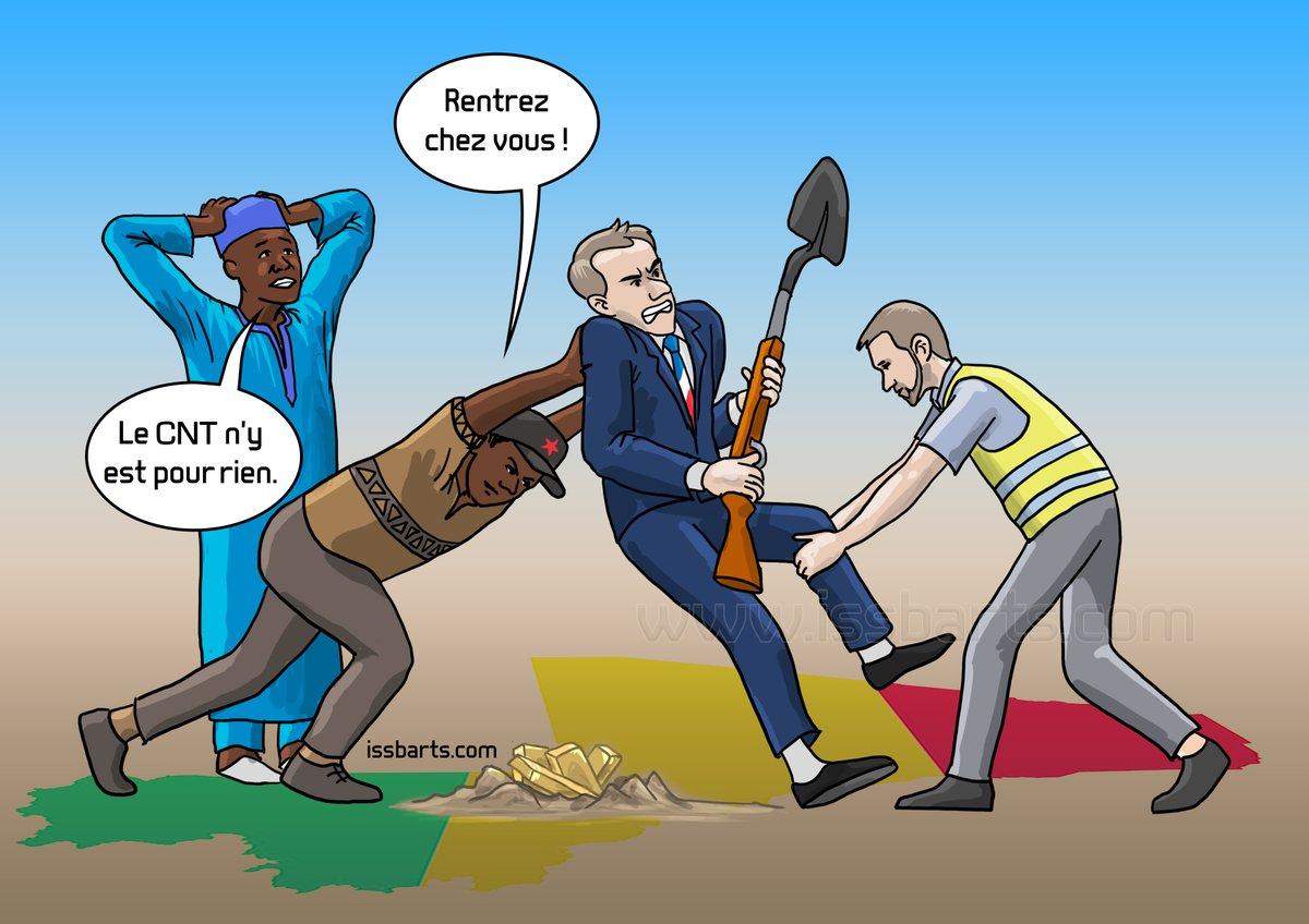 #Caricature : Manifestation contre la présence des troupes françaises au #Mali. 👉Abonne-toi ! #issbarts #CNT #france #GiletsJaunes #yerewolo #malick_diaw #EmmanuelMacron #ben #LeCerveau #kemi #Kemi_Seba #panafricain #afrique #africa #digitalart #Francafrique #panafricanism https://t.co/Jzv4uxUXEn