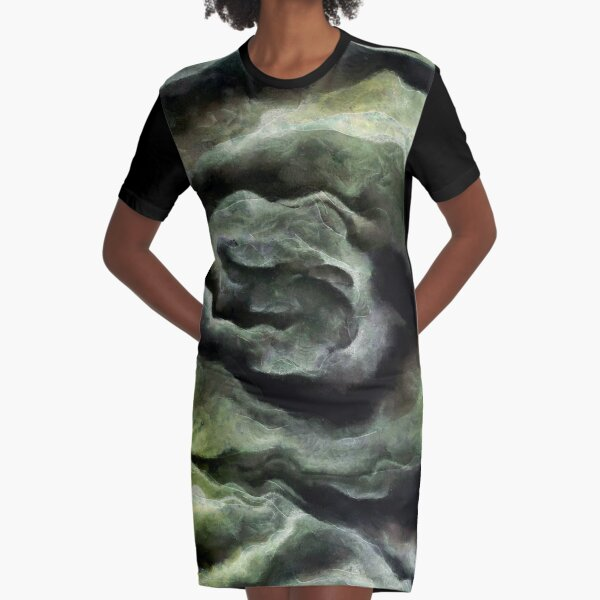 #TShirt #Dress by #taiche #new #painting #AfterAStorm In #IlluminatingYellow and #UltimateGray #AbstractArt #abstract #yellowandgrey #yellowandgray #thundercloud #cumulus #pattern #ceraunophile #modern #interiordesign #contemporary #decorative #grungy