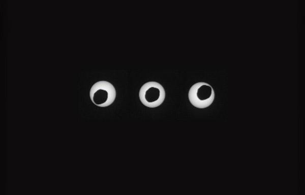 ¡Un eclipse lunar en Marte! Imagen tomada desde el Curiosity.   Vía:   #Eclipse #Marte #Mars #Curiosity
