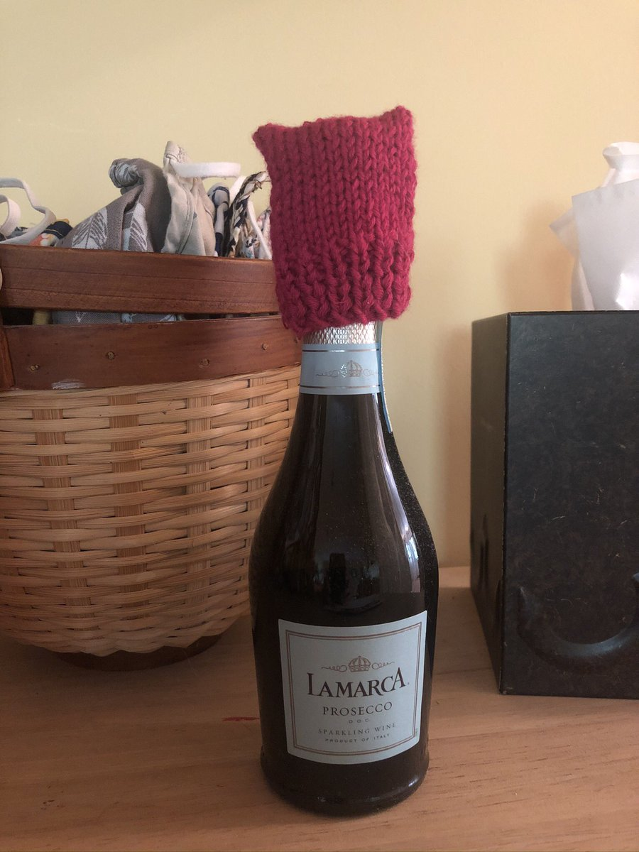 I'm so excited to be opening this on the momentous occasion of the #BidenInauguration. I'm praying that it goes down w/out any violence. (Thanks to @Disenchantress7 for the wine wearing the #pussyhat.) #BidenHarrisInauguration #inauguration #CauseForCelebration #ByeByeTrump