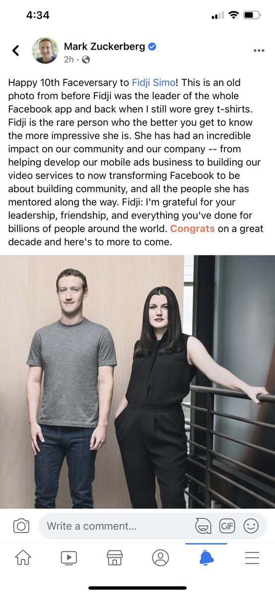 """""""Back when I still wore grey T-shirts"""" Zuckerberg is into color now, and making wardrobe choices in the morning, apparently. (This is the least important news this week) https://t.co/lhxbNFWgS2"""
