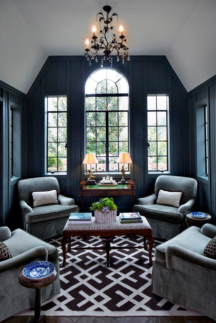 Would you paint a room in your house a dark color?  #Homedecor #livingroom #home #house #interiordesign #homestyle #homestaging #livingroom #luxuryliving #dcstyle #dcliving #dmvarea #dcrealtor #mdrealtor #mdrealestate #dcrealestate #dcstyling #homestaging
