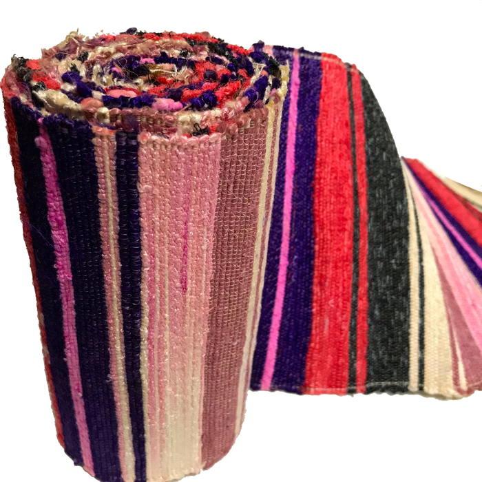 Textile A Day Old Hand Loomed Sakiori Colorful Cotton Obi  👺Please Give This Post A Shoutout  #KimonoboyTextiles #TextileADay #Sashiko #Indigo #Boro #Kaya #Kogin