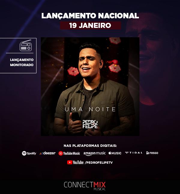 """Lançamento nacional de """"Uma Noite"""" do pagodeiro Pedro Felipe. 📻  A música vai tocar em várias rádios pelo Brasil e você também já pode ouvir na plataforma digital que você preferir.  Confira agora.  #pedrofelipe #pagode #umanoite #connectmix #lancamentomusical"""