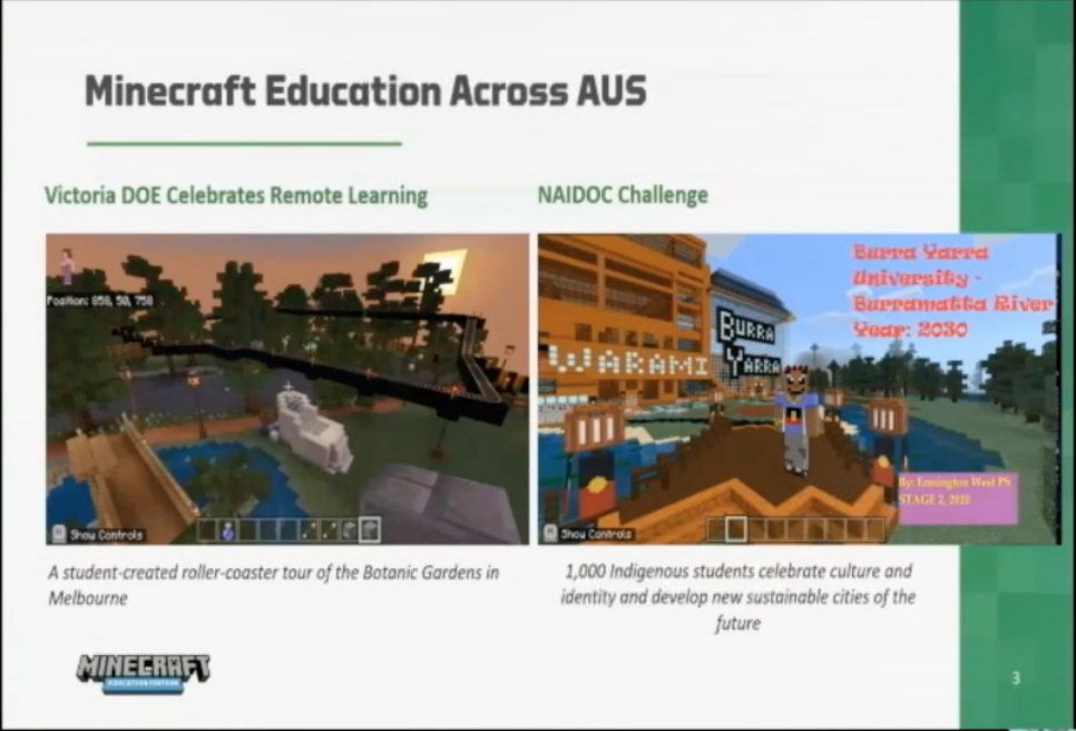 Love seeing how Australian classrooms are using Minecraft Education in the classroom! #EduDay2021