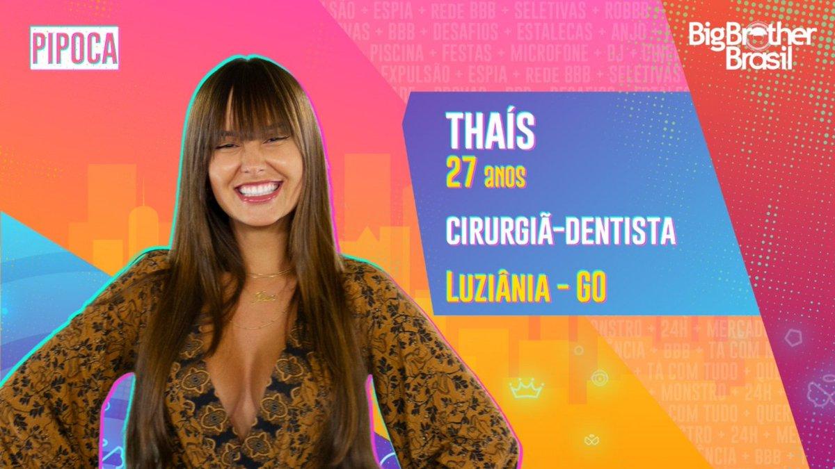 #BBB21 A cirurgiã-dentista #THAÍS é a penúltima participante a chegar no grupo #pipoca. O que achou?