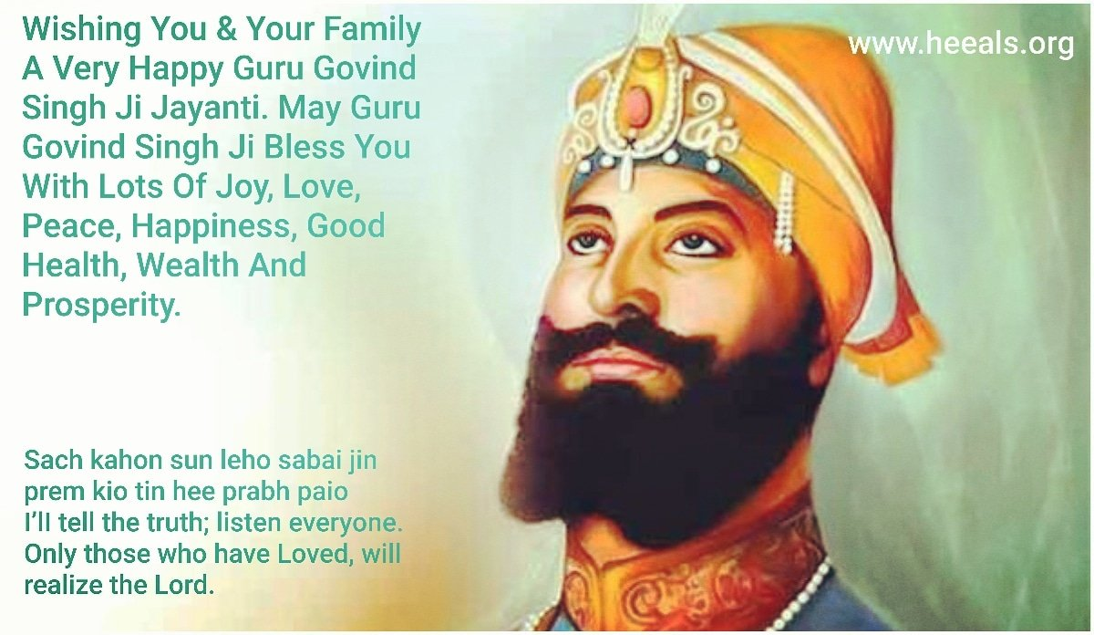 Wishing You & Your Family A Very Happy #gurugovindsinghjayanti May Guru Govind Singh Ji Bless You With Lots Of Joy, Love,Peace, Happiness,Good Health,Wealth &Prosperity #festival #heeals #ngo #donate #news #love #peace #happiness #joy #kind #thankful #grateful #volunteer #travel