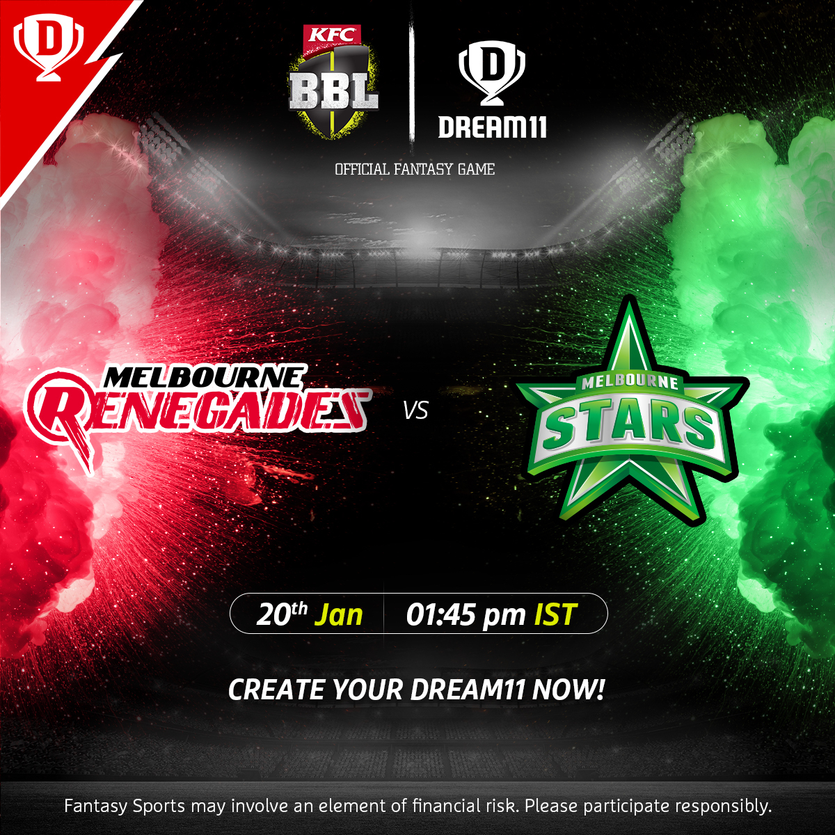 Familiar foes, Renegades get ready to host Stars in the #BBL10 Melbourne derby today 👀  Download the app & create your #Dream11 now. Visit: . @BBL