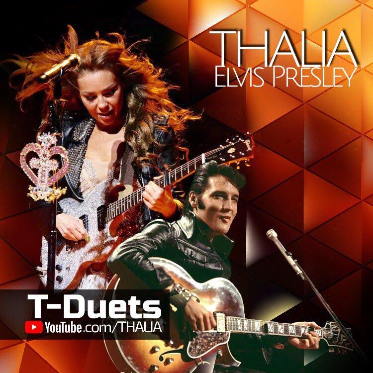 #TDuets: Elvis Presley Duet With Thalia ♥️🎸 #LoveMeTender Letra / Lyric Video ➡️