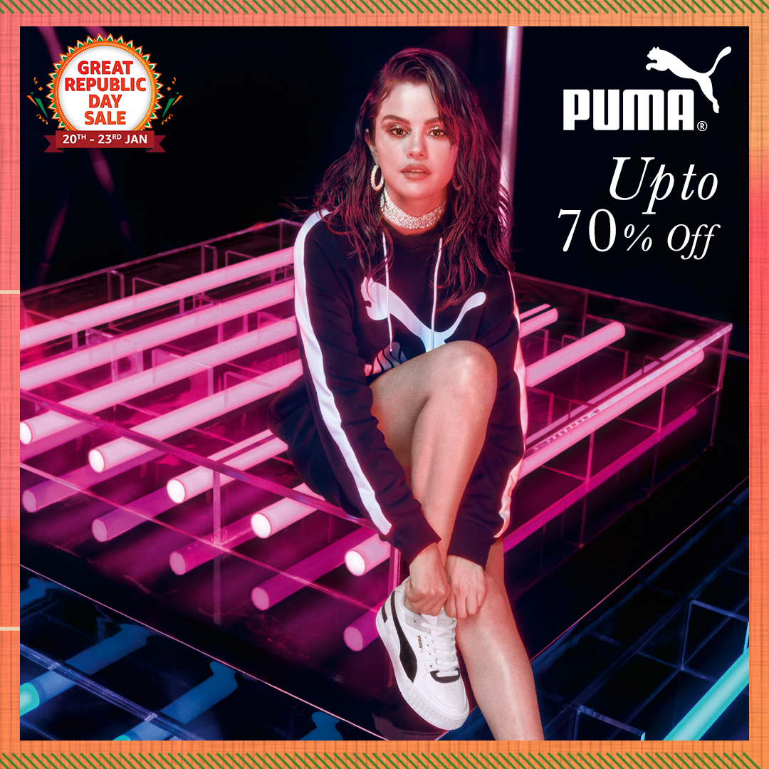 Shop for Puma & stay 'forever faster' with footwear & clothing designed for those who love next level performance & style! Get them at up to 70% off during the #AmazonGreatRepublicDaySale:   #Puma #Footwear #AmazonFashion #HarPalFashionable