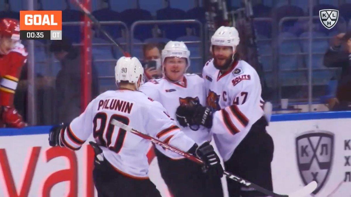 2011 #WorldJuniors champion Denis Golubev was saving his first OT-winner for 10 KHL seasons!