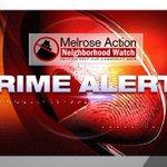 Image for the Tweet beginning: CRIME::: ROBBERY AT MELROSE/SIERRA BONITA