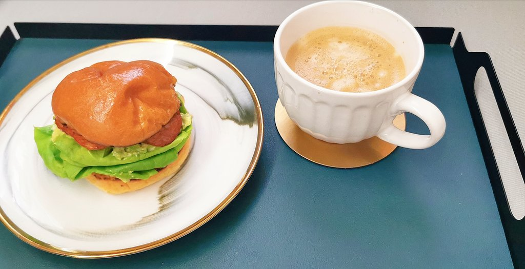 MCO 2.0 ~~  Day 8, a simple breakfast ~~ avocado and chicken salami small brioche bun & cup of flat white 🍔☕😋  #simplebreakfast https://t.co/iMHrTcdcTX