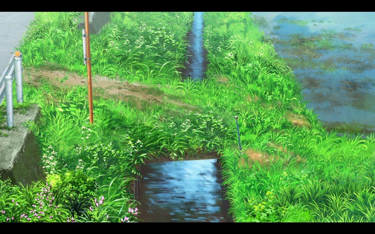 ヒキガエル、昼間はあまり表に出ませんけどね。 田舎らしさを表現する為の演出でしょう。 ヒキガエルは夜行性なので、 明るい時間帯は人目に付かない場所に居ます。  でも、景色が綺麗で癒されるアニメです。 のんのんびより。 https://t.co/WLusJwYzVa