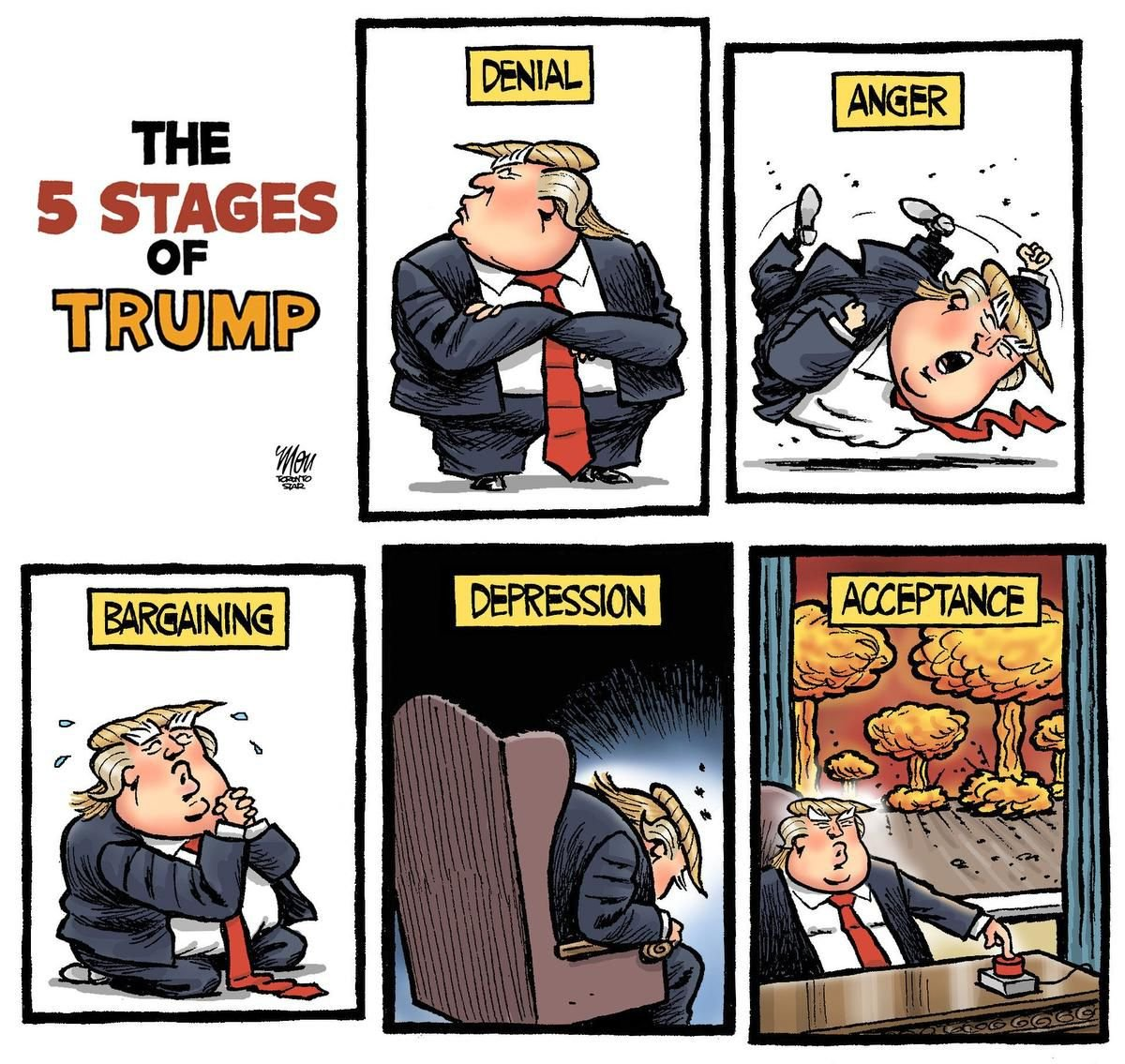 #DonaldTrump, the #BestPresident of the United States of Denial and Banana Republic of #MAGA Fools. Just like he bankrupted a casino, #DiaperDon truned #GOP into Gang Of Psychos then bankrupted it, it lost the House, Senate & Presidency. #LoserOfTheCentury #loseroftheyear #BeGone