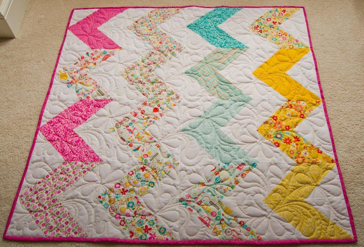 #Adorable #zigzag #Bright &# Fun #Babygirl #Babyshower #Toddlergirl #Minky #Birthday #holidays  #Freeshipping to the US