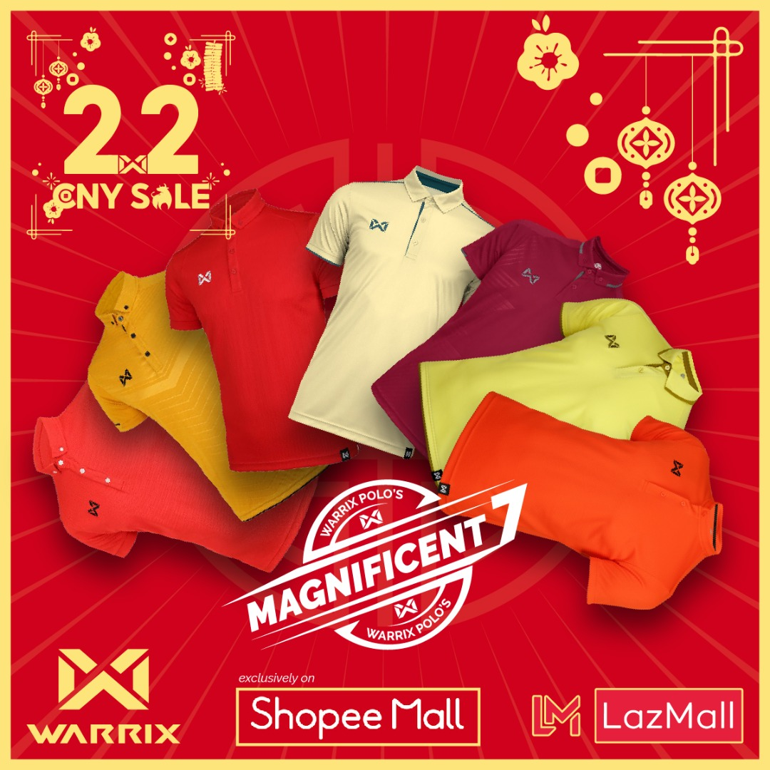 Warrix Chinese New Year  2.2 Sales Warrix Polo Collection  MCO 2.0 NOW ONLY on Shopee Mall & LazMall https://t.co/0nhOqhCEga